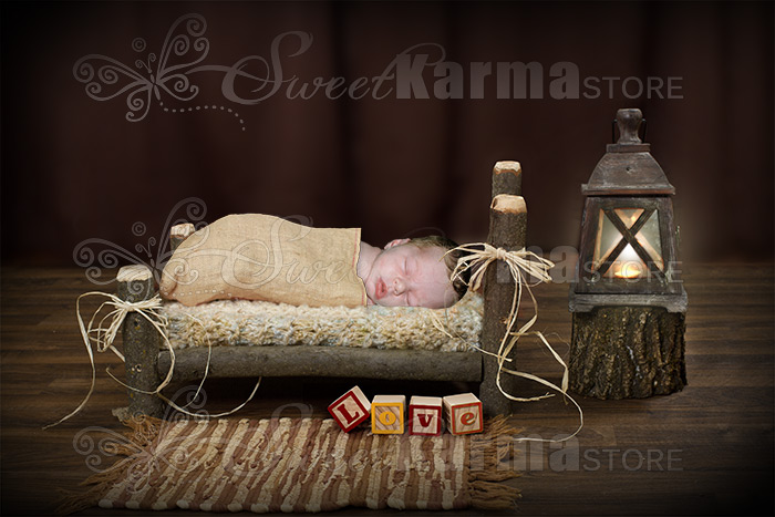 Newborn Log Bed With Lantern Digital File Sweetkarma Store