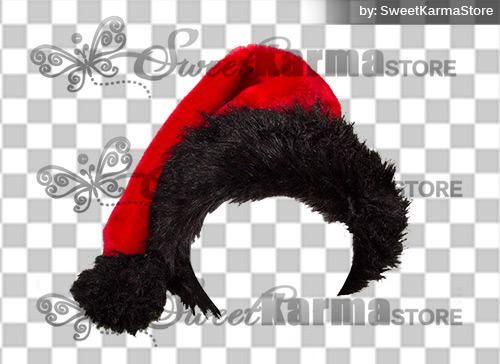 Christmas Hat Transparent.Black Fur Santa Hat Cap Png Transparency Sweetkarma Store